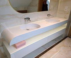 Umywalka podwójna Luksusowe umywalki podwójne z Corianu GFK na wymiar