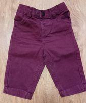 Eleganckie spodnie chłopięce r. 68 F&F 3-6 m-c
