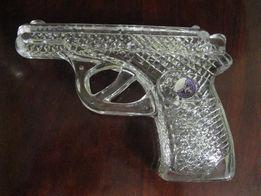 Пистолет сувенирный хрустальный