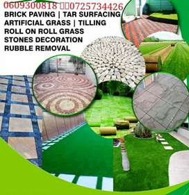 REAL LANDSCAPING INSTALLATION WITH FREE ADVISES