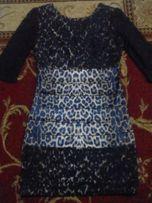 Платье стрейч с гипюром.