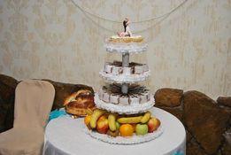 Свадебная подставка для торта на прокат