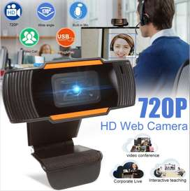 720P 30FPS HD Live Computer Webcam Web Camera with Dual Mic for Compu
