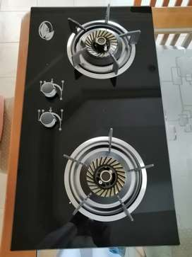 DESIGNER TEMPERED GLASS TWIN GAS COOKER