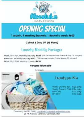 Laundry & Cleaning Services & Upholstery Cleaning
