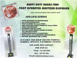 Heavy Duty Hands Free Foot Operated Sanitizer Dispenser
