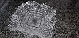 Eye catching Pressed Glass side plate