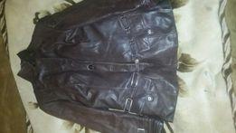 Продам кожаную куртку с натуральным мехом кролика