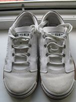 Кросівки кроссовки Diesel білі шкіряні жіночі / унісекс