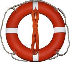 Koło ratunkowe 58cm 1,5kg + Lina pływająca 30m fi 8mm