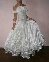 Платье бальное стандарт в камнях (ST) для спортивных бальных танцев
