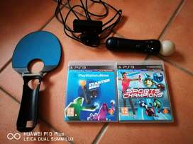 Excellent Working Condition PS3 Move Combo