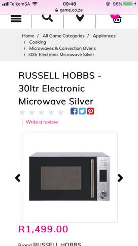 Russel Hobbes microwave for sale
