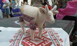Интерьерная игрушка корова / Коровка / ручная работа hand made