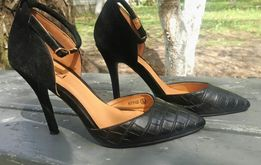 Туфли женские Linzi цвет - черный р.38.5 эко кожа/эко замш