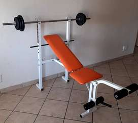 Trojan Power bench , barbell and weights ( Fathers Day Special )