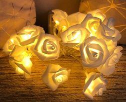 Розы для декора на батарейках. Гирлянда цветы