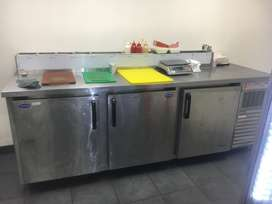 Bar Fridge With Pizza Topping