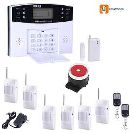 GSM WIRELESS ALARM SYSTEM WITH 6 PIR DETECTORS