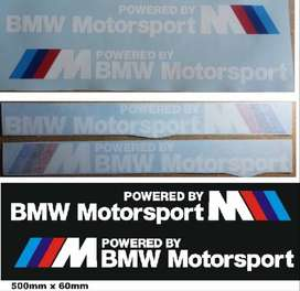 Pair off BMW Motorsport side stickers decals vinyl cut graphics