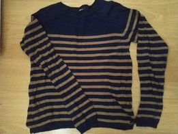 Granatowy sweterek w paski Ginatricot r.S