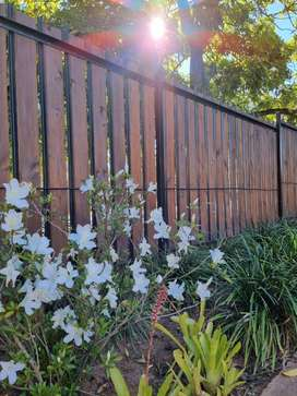 Palisade filling, wooden fences and gates