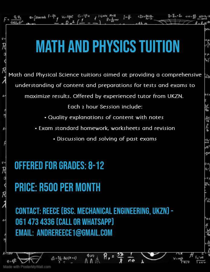 math and physical science tuition 0