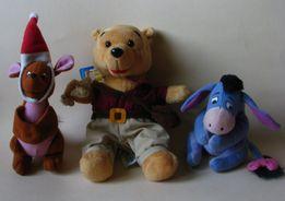 3 maskotki Kubuś Puchatek, kangurzyca, osiołek NOWY Disney