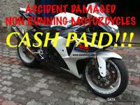 Image of accident damaged bikes wanted cash