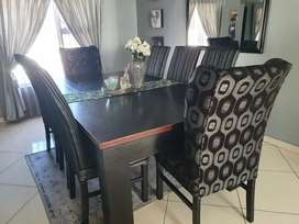 Slate pool and dining room table in one