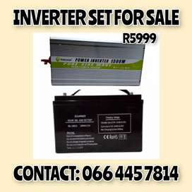 Pure sine wave inverter set with 100 Ah battery