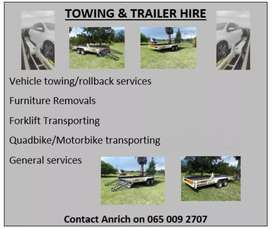 Towing/rollback and trailer services