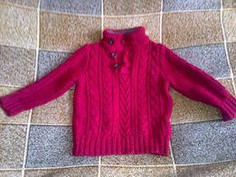 продам красивую красную вязаную кофтинку на мальчика состояние отлично