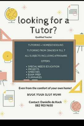 Tutor/ homeschool teacher