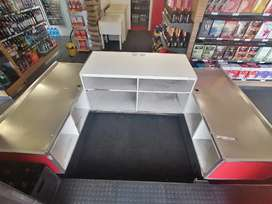 Cashier counter double sided up for grabs x2