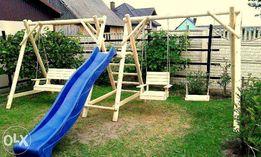 Meble ogrodowe plac zabaw drewniane huśtawka dostawa 100zł cały kraj