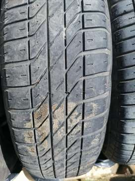Toyota steelies with tyres and caps for sale
