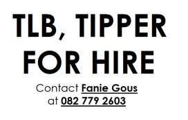 TLB, TIPPER for hire