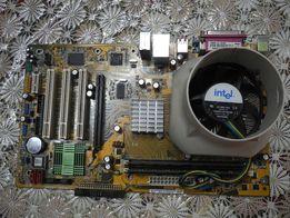 Материнская плата Asus P5GPL-X +процессор+DRAM+заглушка