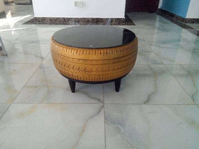 Tyre coffee table 0