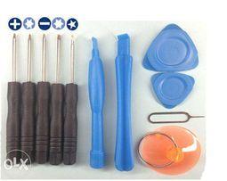 Набор отверток, инструментов для ремонта телефонов и пинцет изогнутый