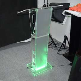 Transparent Industrial Pulpits with LED's