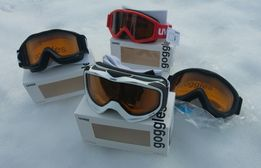 Gogle narciarskie UVEX - różne rozmiary i kolory