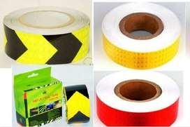 New! Safety Reflective Tap- 5m/50m Arrow direction- Yellow/Red/Lime