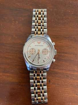 Stainless steel and gold plated Emporio Armani watch
