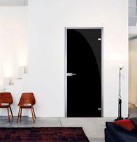 Дверь стеклянная, дверь межкомнатная, стекло Черное зеркало