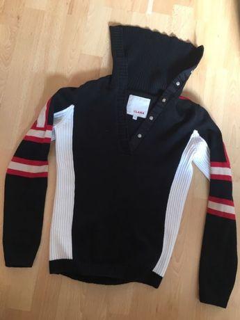 Sweter czarny ciepły Clara rozm M ciepła bluzka na zimę fajny butik Gdynia - image 1