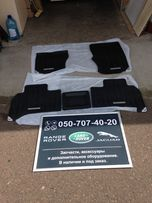 Оригинальные коврики салона резиновые, чёрные на Range Ровер 2013-