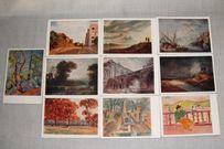 Старые открытки СССР 1959 Репродукции картин Пейзажи Эрмитаж 10шт