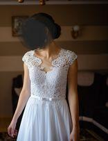 Suknia ślubna roz 36/38+biżuteria+ozdoba do włosów+welon